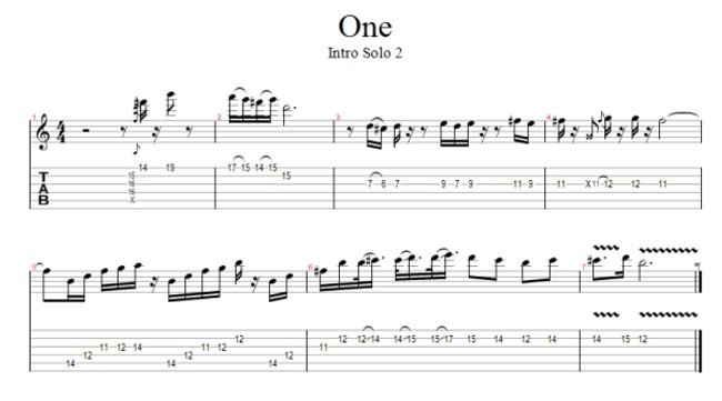 Drum metallica drum tabs : One (Metallica) Free Guitar Pro Tab
