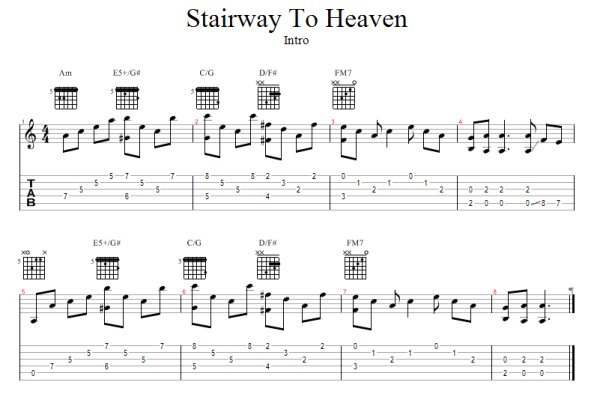 how to play all of stairway to heaven: