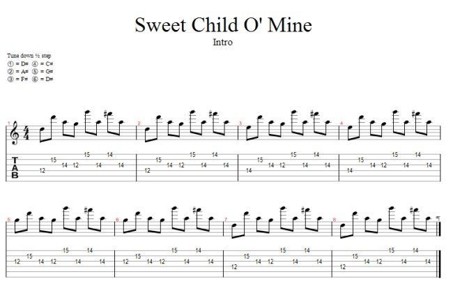 Guitar+tabs+for+sweet+child+of+mine