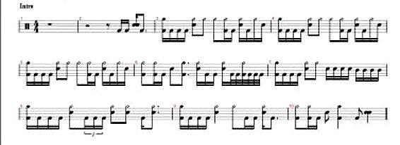 Drum beatles drum tabs : Drum : drum tabs for songs Drum Tabs and Drum Tabs For Songs' Drum ...