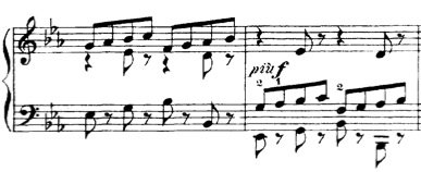 (two measures from Moszkowski's