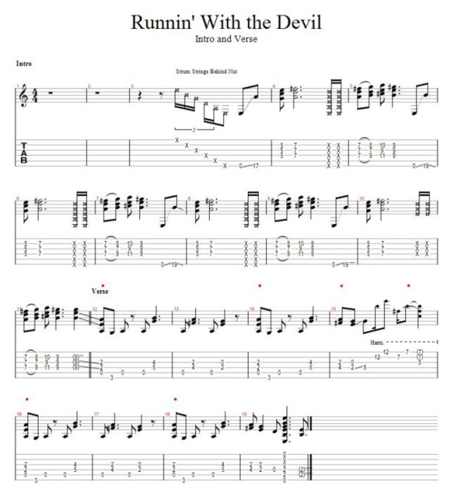 Runnin' With The Devil  Guitar Pro Tab